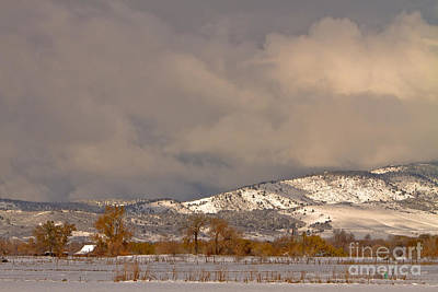 Low Winter Storm Clouds Colorado Rocky Mountain Foothills 2 Poster by James BO  Insogna