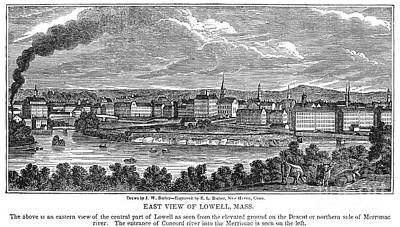 Lowell: Factories, 1844 Poster by Granger