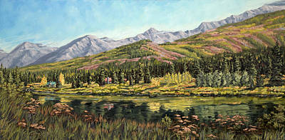 Poster featuring the painting Lower Summit Lake by Kurt Jacobson