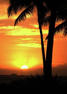 Luau Sunset Poster by Dan McManus