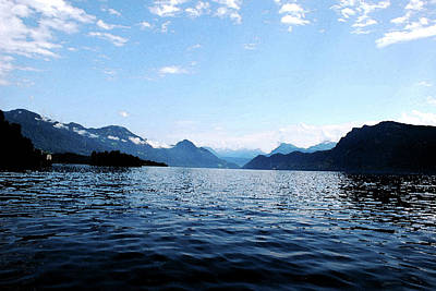 Poster featuring the photograph Lucerne Lake by Pravine Chester