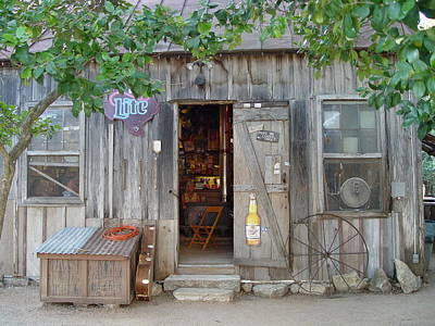 Poster featuring the photograph Luckenbach Texas 2006 by Elizabeth Sullivan