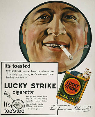 Luckys Cigarette Ad, 1919 Poster