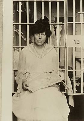 Lucy Burns 1879-1966 In A Jail Poster by Everett