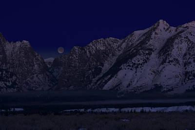 Lunar Eclipse Grand Teton National Park Poster
