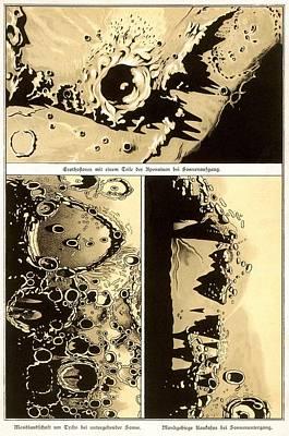 Lunar Landscape Observations, 1882 Poster by Detlev Van Ravenswaay