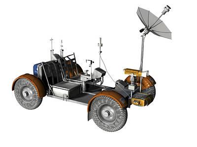 Lunar Rover, Artwork Poster by Friedrich Saurer