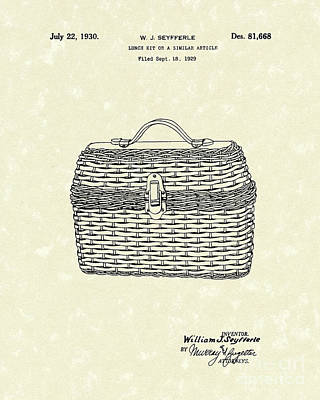 Lunch Box 1930 Patent Art Poster