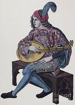 Lute Player, 1839 Poster by Granger