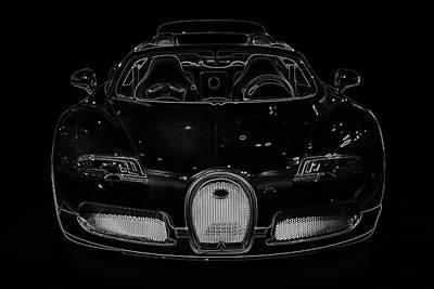Luxury Car Illustration Poster by Radoslav Nedelchev