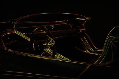 Luxury Sport Car Illustration Poster by Radoslav Nedelchev