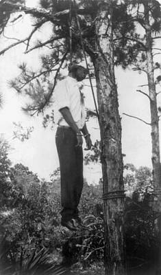 Lynched African American Man Hanging Poster