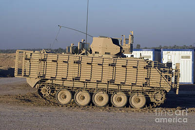 M113 Varient At Camp Warhorse Poster by Terry Moore