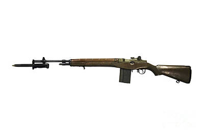 M14 Rifle, Developed From The M1 Garand Poster by Andrew Chittock
