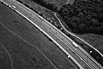 M25 Motorway/highway From Air Poster