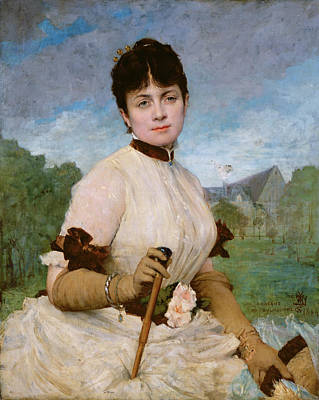 Madame Marie Toulmouche Poster by Jules Elie Delaunay