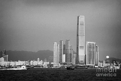 Madeira Hydrofoil Macau Ferry Speeds Towards Kowloon Skyline Hong Kong Hksar China Asia Poster by Joe Fox