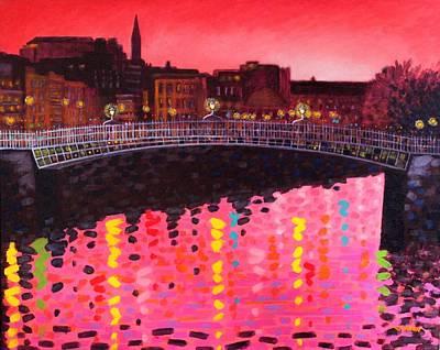 Magenta Evening Dublin Poster