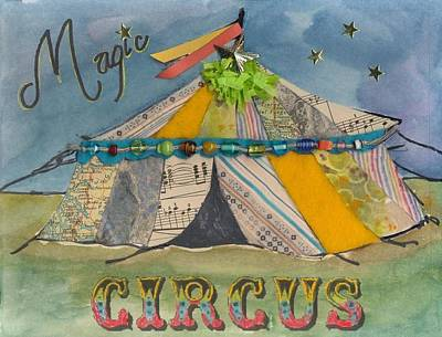 Magic Circus Poster by Casey Rasmussen White