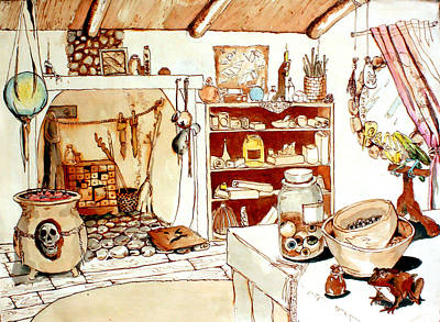 Magic Cottage Poster by Kathryn M Bennett