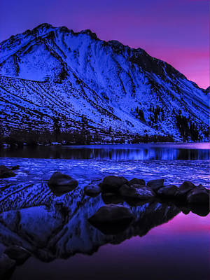 Magical Sunset Over Mount Morrison And Convict Lake Poster