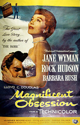 Magnificent Obsession, Rock Hudson Poster by Everett