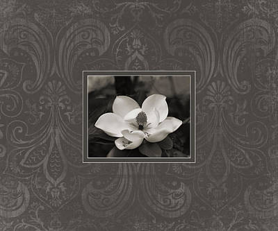 Magnolia Art Poster by Mary Hershberger