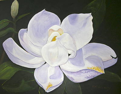 Poster featuring the painting Magnolia by Mary Kay Holladay