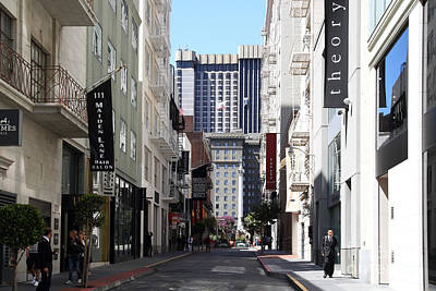Maiden Lane . San Francisco Poster by Wingsdomain Art and Photography