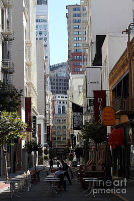 Maiden Lane San Francisco . 7d7349 Poster by Wingsdomain Art and Photography