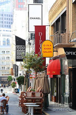 Maiden Lane San Francisco . 7d7350 Poster by Wingsdomain Art and Photography