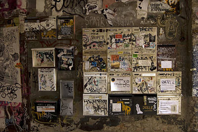 Mailboxes With Graffiti Poster by RicardMN Photography
