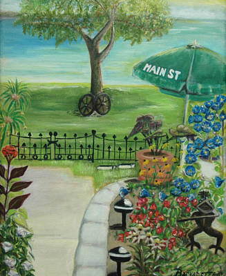 Poster featuring the painting Main Street by Bernadette Krupa