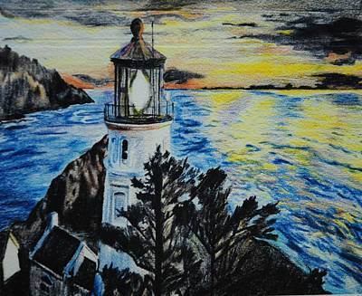 Maine Lighthouse Poster by Michelle Hand