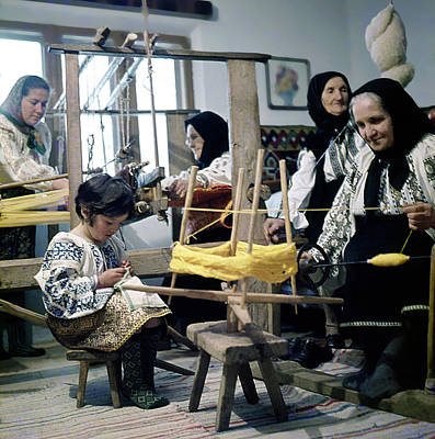 Making Wool Clothing In Vrancea Romania Poster