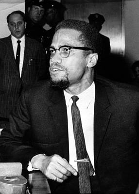 Malcolm X, During A Press Conference Poster