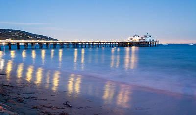 Malibu Pier Reflections Poster