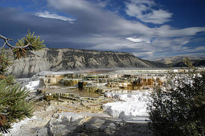 Poster featuring the photograph Mammoth Hot Springs by Geraldine Alexander