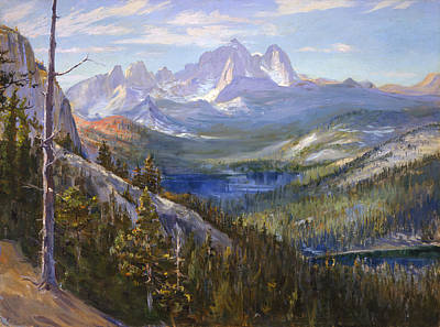 Mammoth Lakes In The High Sierras Poster by Lewis A Ramsey