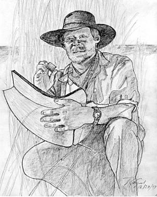 Man Pencil Portrait Poster by Rom Galicia