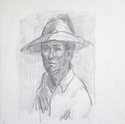 Man With Hat Poster