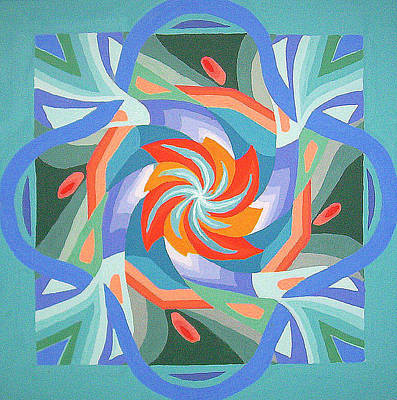 Poster featuring the painting Mandala by Rachel Hames