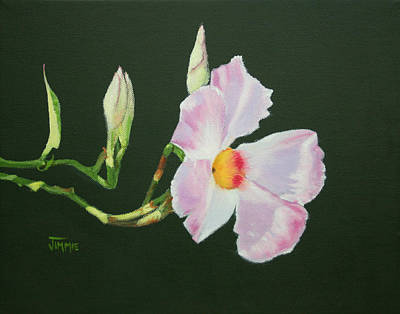 Poster featuring the painting Mandevilla Reaching Out by Jimmie Bartlett