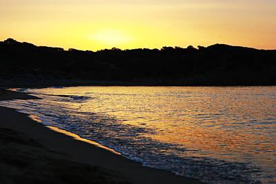 Mandraki Elias Beach Sunset Skiathos Poster by Nick Karvounis