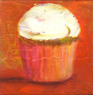 Mango Cupcake Poster by Jeannine Luke
