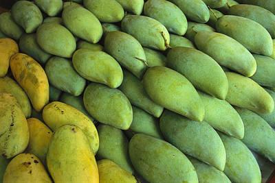 Mangoes Sold At A Market Poster