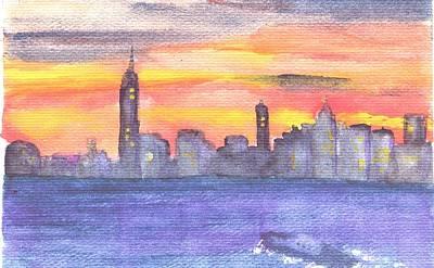 Manhattan At Dawn Poster