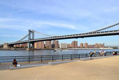 Manhattan Bridge1 Poster by Zawhaus Photography