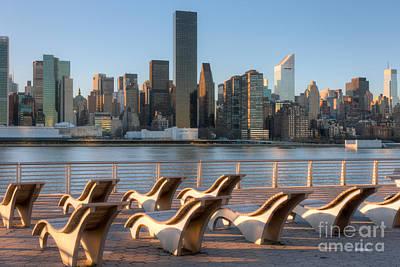 Manhattan Skyline From Gantry Plaza State Park Poster