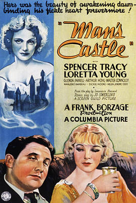 Mans Castle, Spencer Tracy, Loretta Poster by Everett